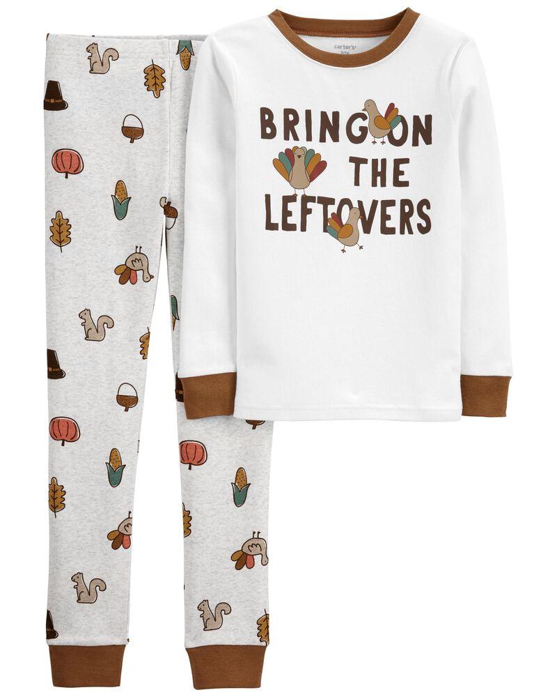 Pyjama 2 pièces en coton ajusté Thanksgiving Leftovers, , hi-res