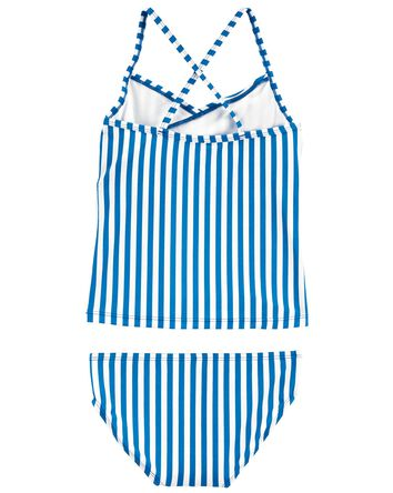 Striped Ruffle Tankini