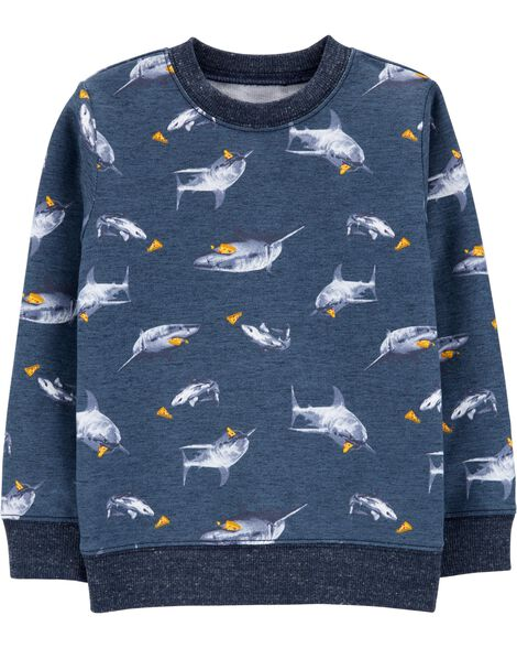 Pizza Shark Pullover Sweatshirt
