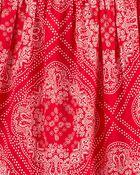 Robe à volants à imprimé bandana, , hi-res