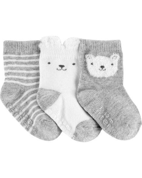 3 paires de chaussettes avec ours