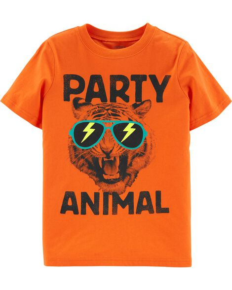 Party Animal Tiger Jersey Tee