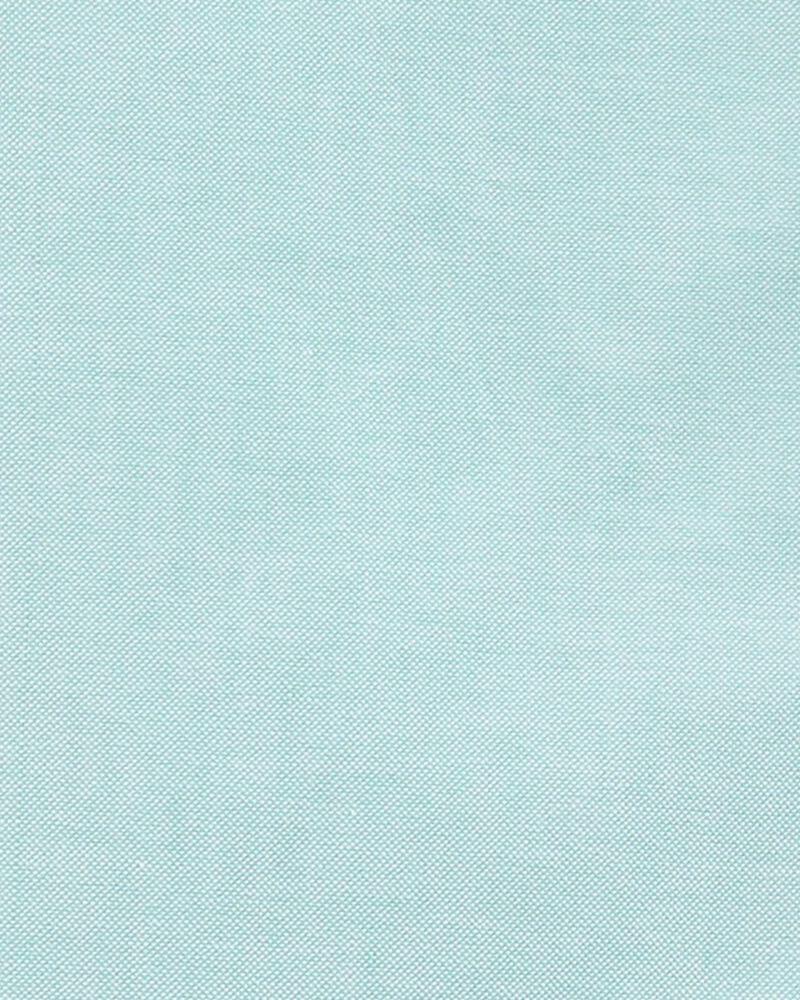 2-Piece Oxford Button-Front Shirt & Plaid Short Set, , hi-res