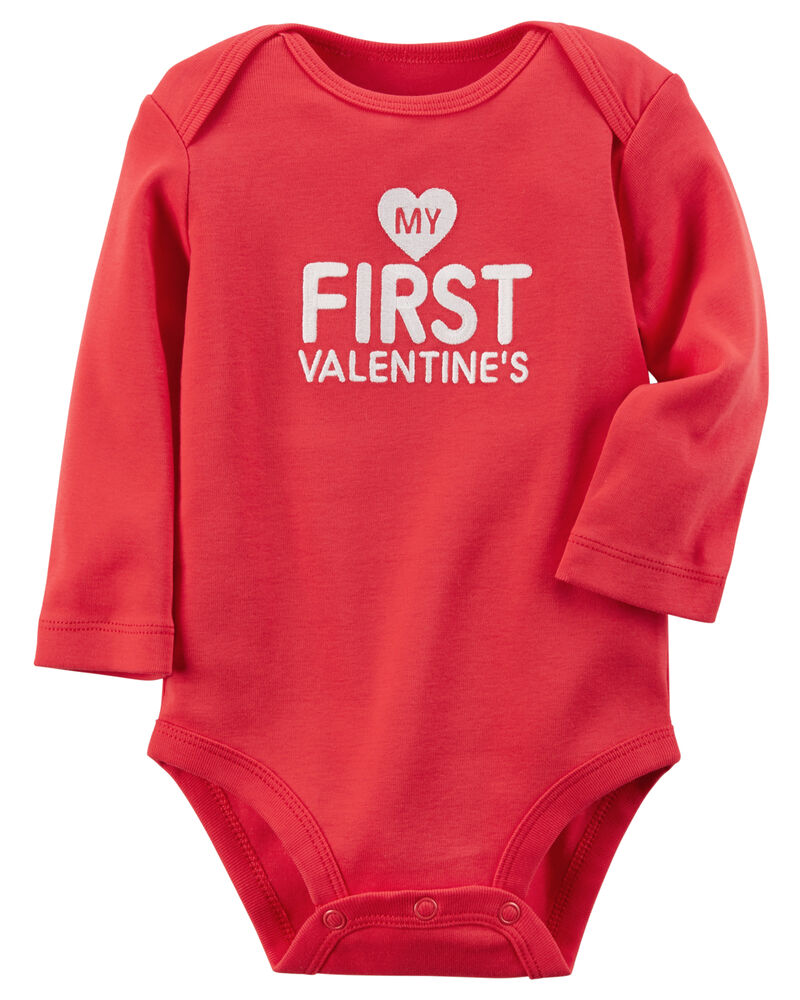 Aslaylme Baby Boys My First Valentines Day Outfit Set Infant Toddler Valentines Day Romper