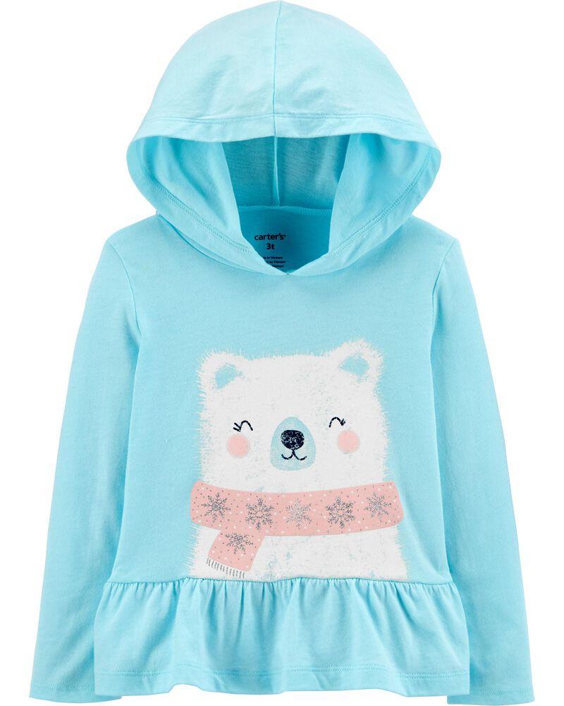 Polar Bear Hooded Jersey Tee, , hi-res