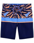Tropical Palms Swim Trunks, , hi-res