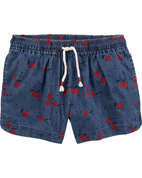 Chambray Cherry Sun Shorts