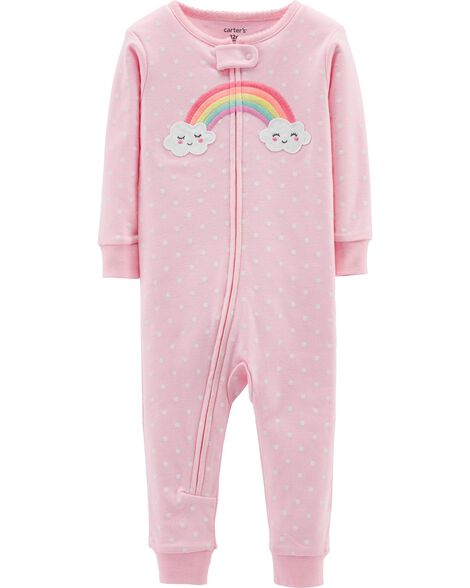 1-Piece Rainbow Snug Fit Cotton Footless PJs