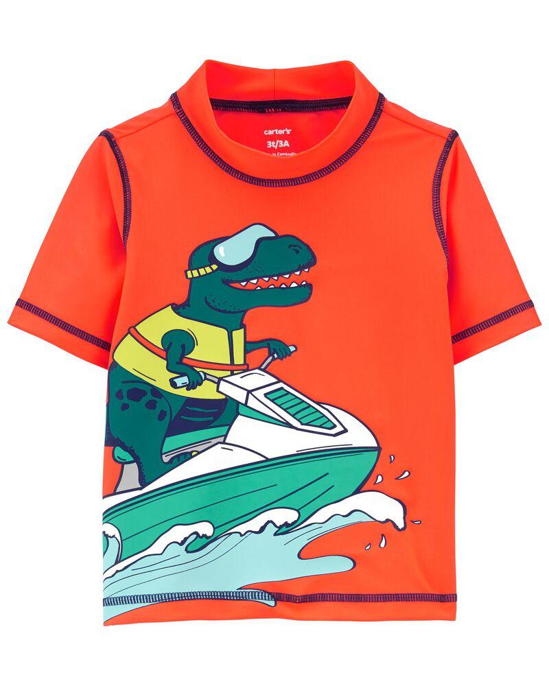 Jet Ski Dinosaur Rashguard, , hi-res