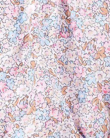 Floral Pintuck Poplin Bodysuit