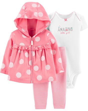 3-Piece Polka Dot Little Jacket Set