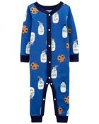 1-Piece Milk & Cookies 100% Snug Fit Cotton Footless PJs, , hi-res