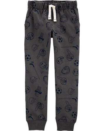 Sports Pull-On French Terry Joggers