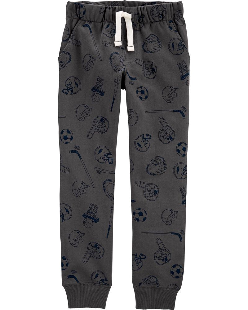 Sports Pull-On French Terry Joggers, , hi-res
