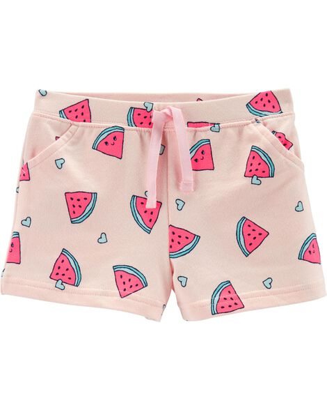 Watermelon Pull-On French Terry Shorts