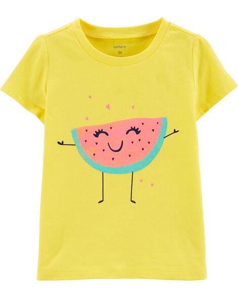T-shirt en jersey à melon d'eau scintillant