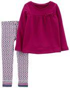 2-Piece Fleece Top & Legging Set, , hi-res