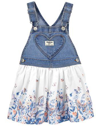 Floral Heart Pocket Jumper