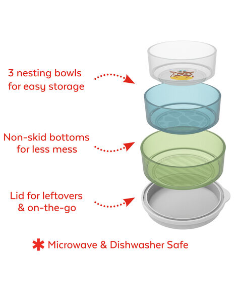 Zoo Smart Serve Non-Slip Bowls