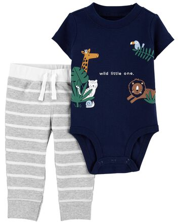 2-Piece Animal Bodysuit Pant Set