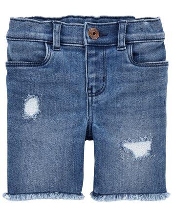 Rip-&-Repair Skimmer Shorts in Blue...