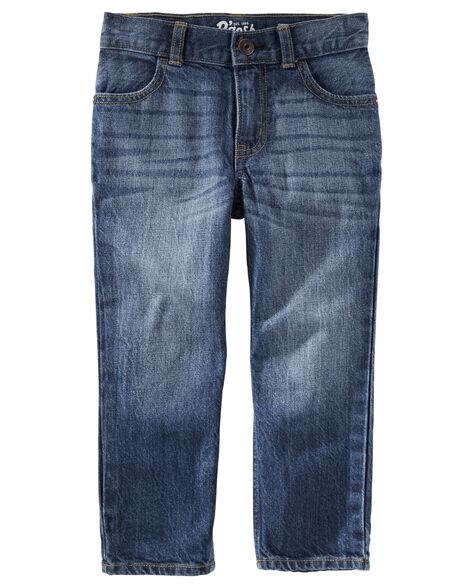 Jeans droit - délavage teinté authentique