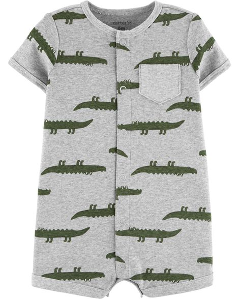 Alligator Snap-Up Romper