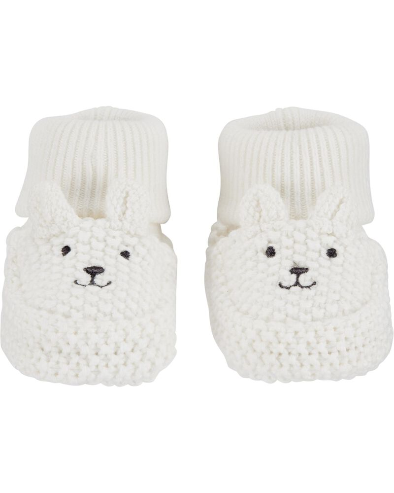 Bear Baby Booties, , hi-res