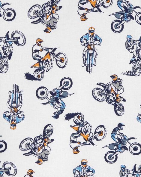 4-Piece Motorcycle Snug Fit Cotton PJs