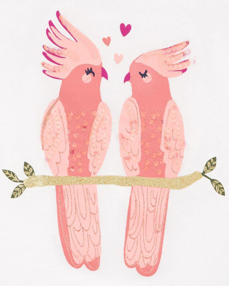 Débardeur en jersey à oiseaux scintillants, , hi-res