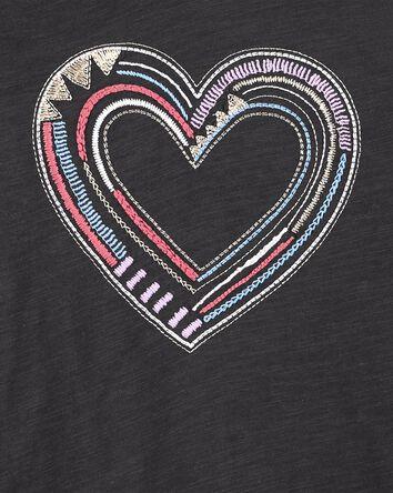 Slub Jersey Embroidered Hoodie