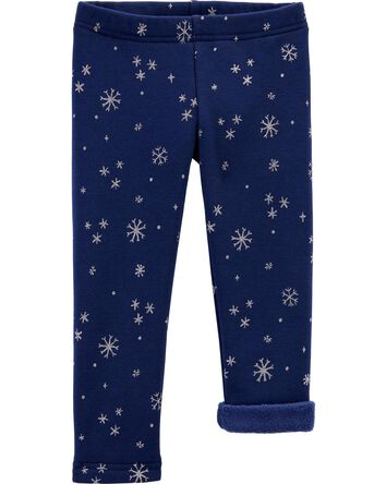 Snowflake Cozy Fleece-Lined Legging...