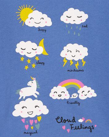 T-shirt en jersey à nuage
