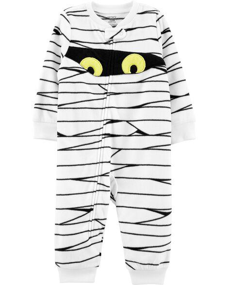 Pyjama 1 pièce sans pieds en molleton Mummy