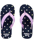 Sandales de plage à motif de pois, , hi-res