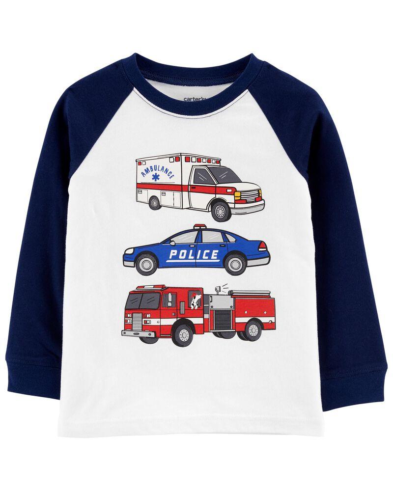 T-shirt en jersey à manches raglan et véhicule de secours, , hi-res