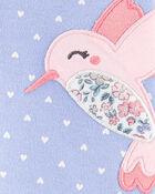 Grenouillère en coton à boutons-pression et colibri, , hi-res