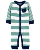 Striped Snap-Up Cotton Footless Sleep & Play, , hi-res