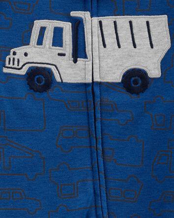 Truck 2-Way Zip Cotton Sleep & Play