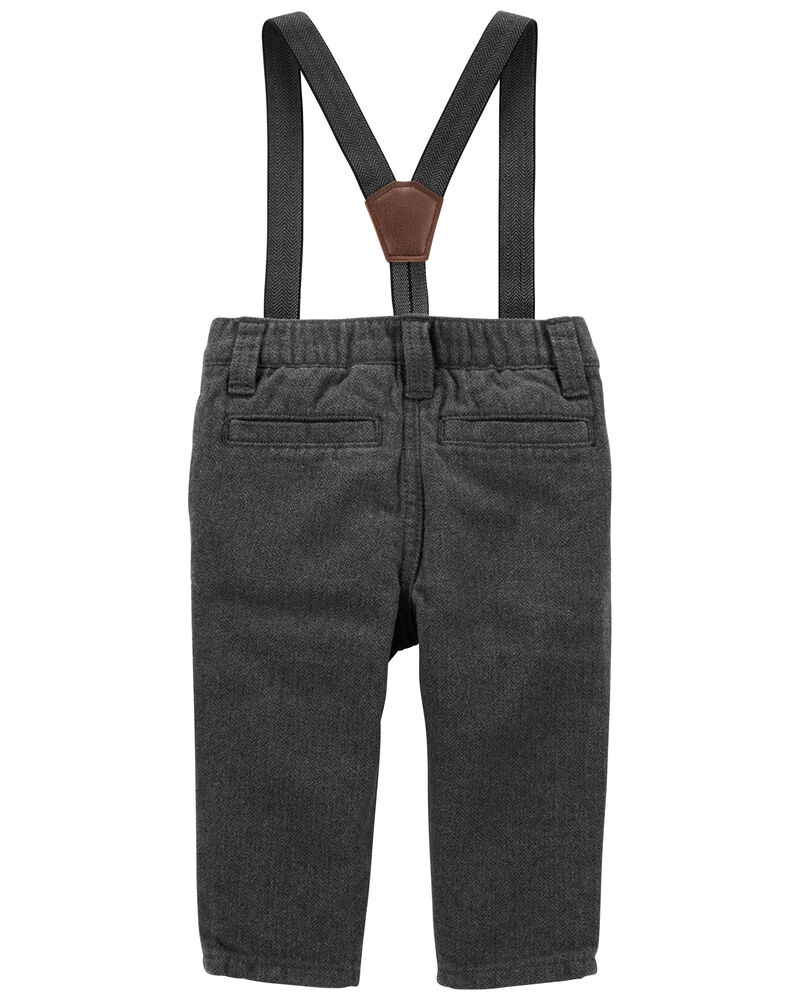 Herringbone Suspender Pants, , hi-res
