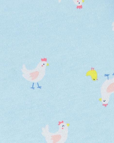 Barboteuse en jersey avec poulet