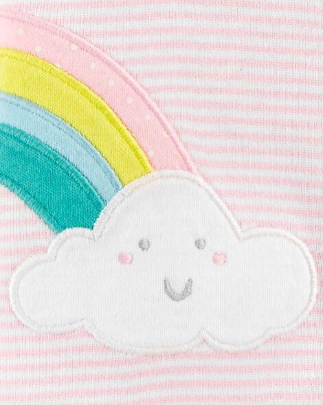 Rainbow Snap-Up Cotton Footless Sleep & Play