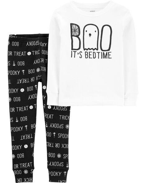 2-Piece Boo Halloween Snug Fit Cotton PJs