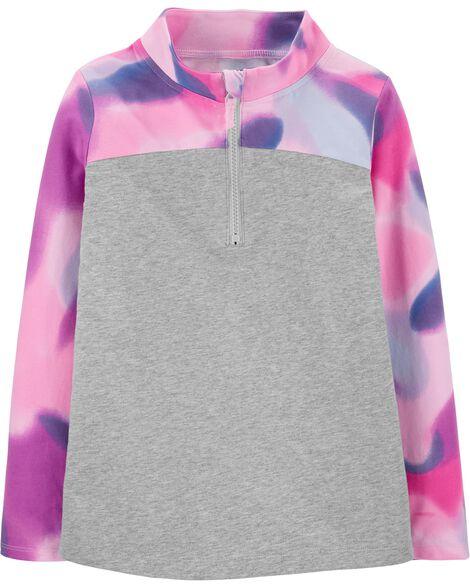 Tie-Dye Half-Zip Jersey Pullover