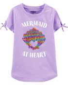 T-shirt à sirène et paillettes , , hi-res
