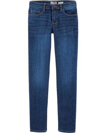 Jeans ultra étroit - délavage bleu...