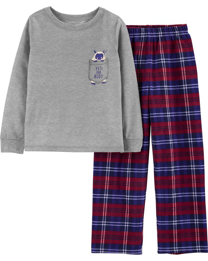 Pyjama 2 pièces yéti, , hi-res