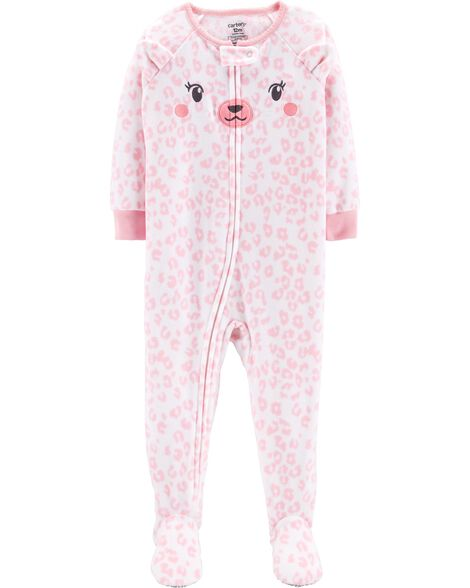 1-Piece Cat Fleece PJs