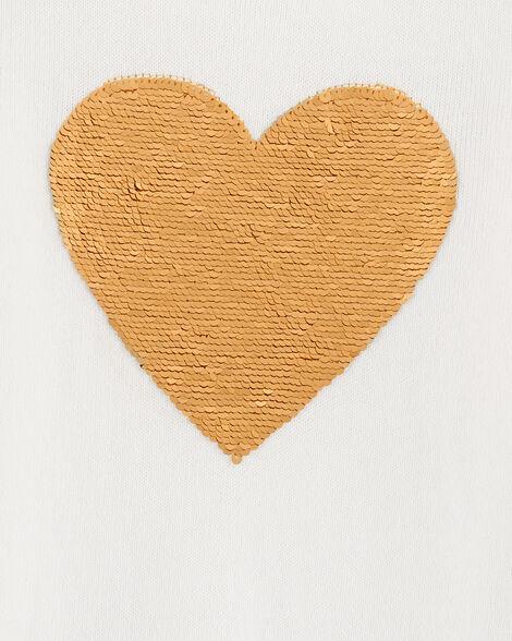 Flip Sequin Heart Sweater