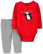 2-Piece Penguin Bodysuit Pant Set, , hi-res